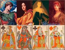 4 дамы и их прообразы. Кто нарисован на картах